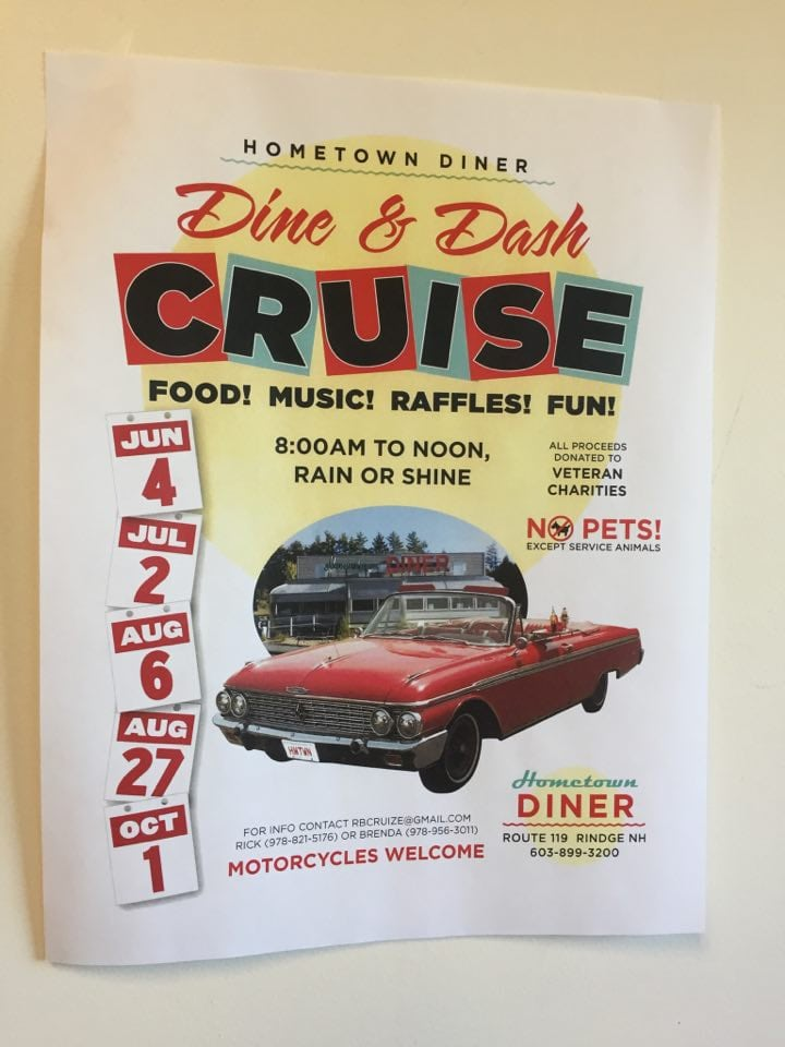 NH – Rindge – Dine & Dash Cruise