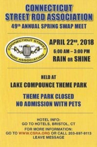 CT - Bristol - 50th Annual CSRA Spring Swap Meet @ Lake Compounce parking lot | Bristol | Connecticut | United States