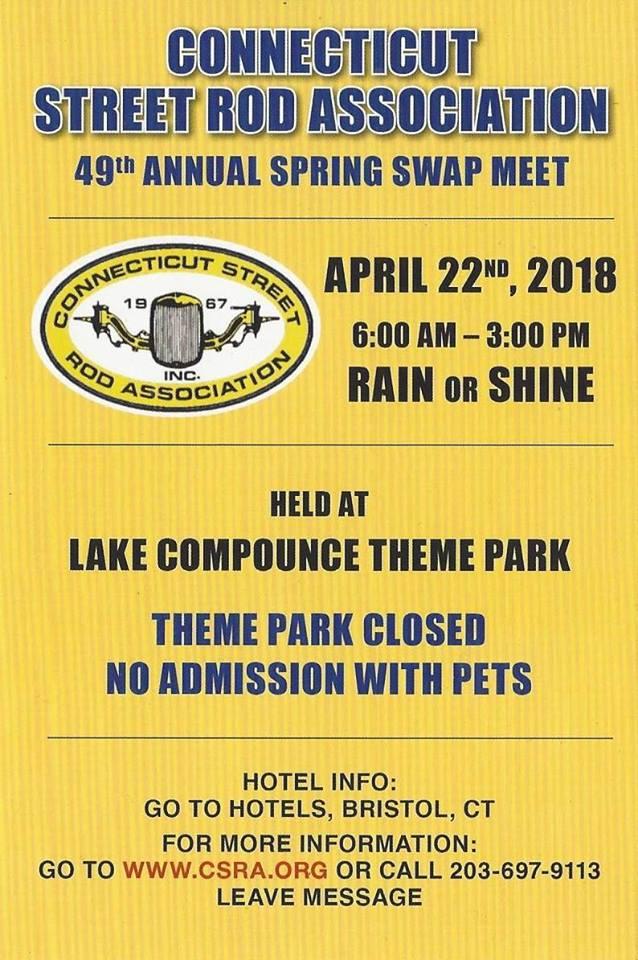 Ct Bristol 49th Annual Csra Spring Swap Meet