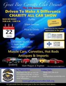 NH - Newington - GBCC Driven to Make a Difference Charity All Car Show @ Sig Sauer | Newington | New Hampshire | United States
