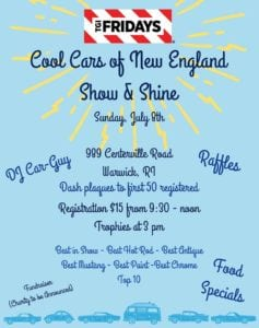 RI - Warwick - Cool Cars of New England Show & Shine @ TGI Fridays | Warwick | Rhode Island | United States