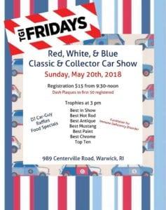 RI -Warwick - Red, White & Blue Classic and Collector Car Show @ TGI Fridays | Warwick | Rhode Island | United States