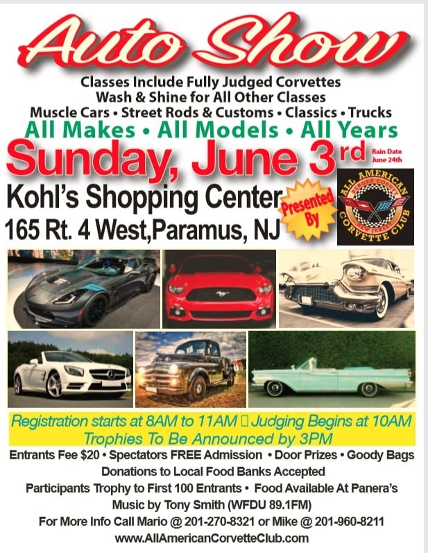 NJ Paramus AACC All Make All Model Car Show - Car shows in nj