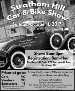 NH - Stratham - Hill Car and Bike Show for BSA Troop 185 @ Stratham Hill Park | Stratham | New Hampshire | United States