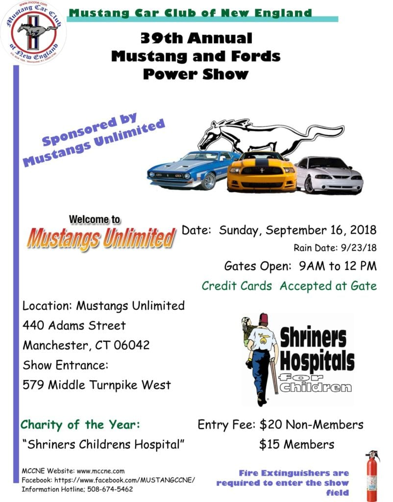 CT Manchester Th Annual Mustang And Fords Power Show - Mustangs unlimited car show 2018