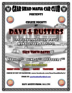 CT - Manchester - Cruise Night at Dave and Busters @ Dave & Busters | Manchester | Connecticut | United States