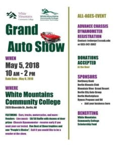 NH - Berlin - White Mountains Community College Grand Auto Show @ White Mountains Community College | Berlin | New Hampshire | United States