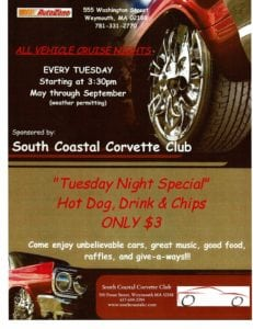 MA - Weymouth - All Vehicle Cruise Nights @ Autozone | Weymouth | Massachusetts | United States