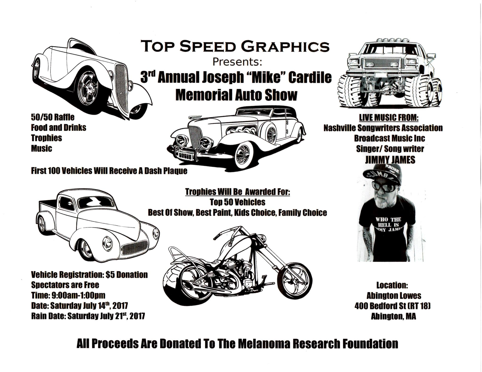 MA Abington Annual Joseph Mike Cardile Memorial Auto Show - Bedford car show 2018