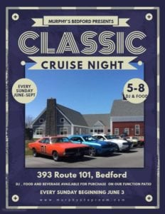 NH - Bedford - Classic Cruise Night at Murphy's @ Murphy's Taproom & Carriage House | Bedford | New Hampshire | United States