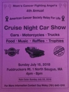 MA - Saugus - Mom's Cancer Fighting Angels Annual Cruise Night Car Show @ Fuddruckers | Saugus | Massachusetts | United States