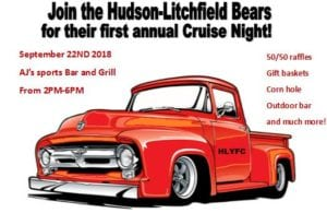 NH - Hudson - Hudson-Litchfield Bears 1ST Annual Cruise Night @ AJ's Sports Bar & Grill | Hudson | New Hampshire | United States