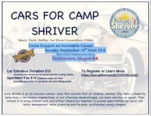 MA - Saugus - CARS FOR CAMP SHRIVER @ Fuddruckers, Saugus | Saugus | Massachusetts | United States