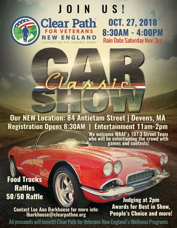 MA Devans Clear Path For Veterans Classic Car Show - New england car show