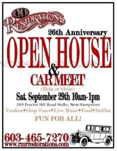 NH - Hollis - RMR Restorations 26th Anniversary Open House and Car Meet @ RMR Restorations | Hollis | New Hampshire | United States