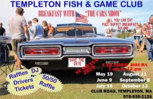 MA - Templeton - Fish and Game Club Breakfast with The Cars Show @ Templeton | Massachusetts | United States