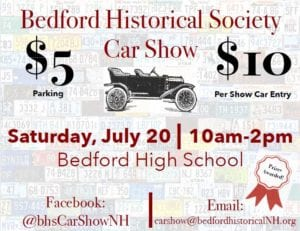 NH - Bedford - Historical Society Car Show @ Bedford High School | Bedford | New Hampshire | United States