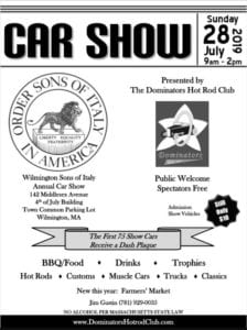 MA - Wilmington - Sons of Italy Annual Car Show @ Wilmington | Massachusetts | United States