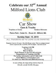 MA - Milford - Lions Club Car Show @ Plains Park | Milford | Massachusetts | United States