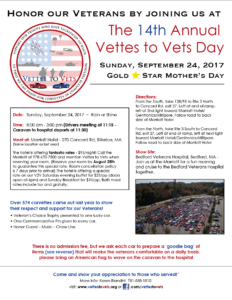 MA - Bedford - Annual Vettes to Vets day @ Meet At: Marriot Hotel | Billerica | Massachusetts | United States