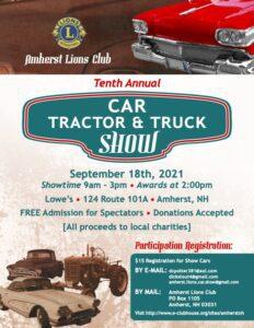 NH - Amherst - Amherst Lions Car Tractor & Truck Show @ Amherst Lowes | Amherst | New Hampshire | United States