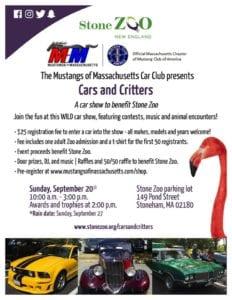 Ma - Stoneham - Cars and Critters @ The Stone Zoo Parking Lot | Stoneham | Massachusetts | United States