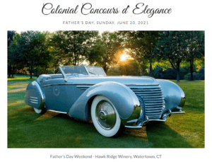 CT - Watertown - THE CONNECTICUT COLONIAL CONCOURS D' ELEGANCE @ Hawk Ridge Winery | Watertown | Connecticut | United States