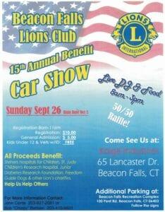 CT - Beacon Falls - Lions Club Annual Car Show @ Kolga Industries | Beacon Falls | Connecticut | United States