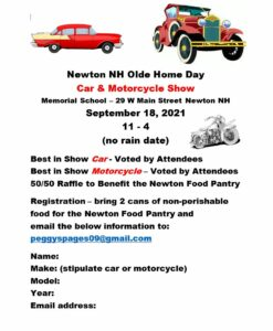 NH - Newton - Old Home Day Car Show @ Memorial School | Newton | New Hampshire | United States