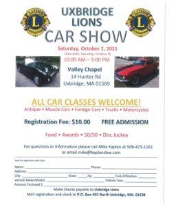 MA - Uxbridge - Lions Car Show @ Valley Chapel | Uxbridge | Massachusetts | United States